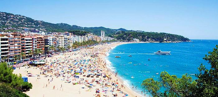 Lloret de Mar paplūdimys, Kosta Brava, Ispanija